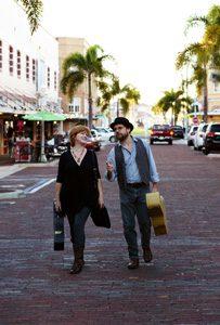 Roy Schneider & Kim Mayfield walking
